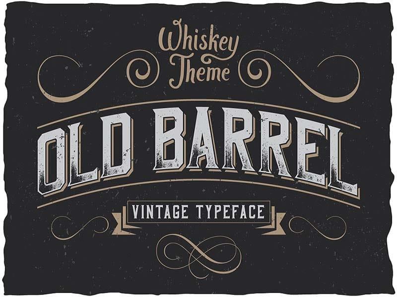 website design trends vintage typography
