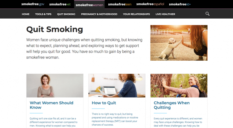 smokefree women