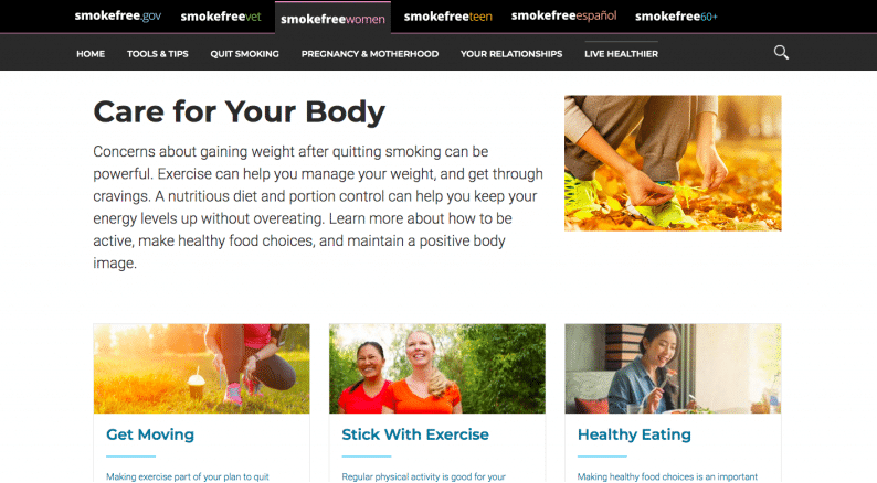 live healthy website