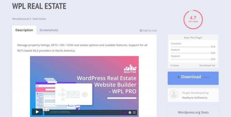real estate plugins for wordpress